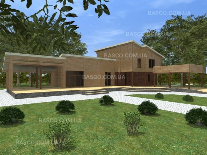 Проект деревянного дома «Лоск»