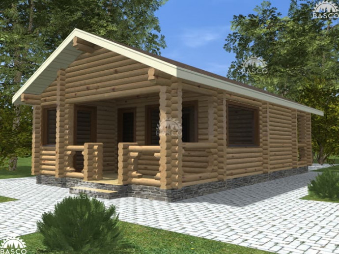 Деревянная баня — «Лайм»