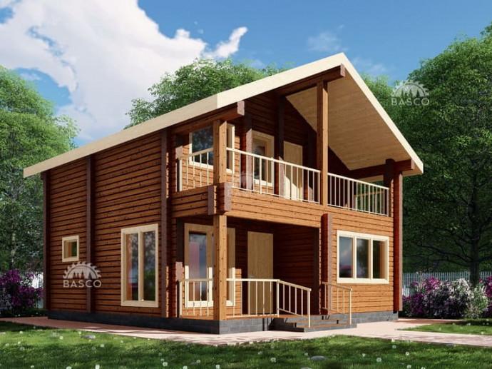 Деревянный дом «Бахор»