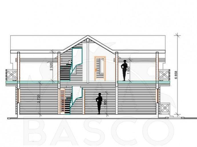 Деревянный дом «Барселона»