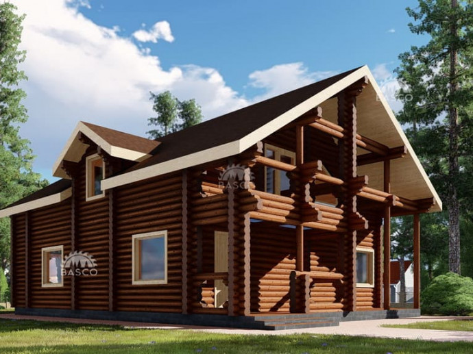 Проект деревянного дома «Боярин»