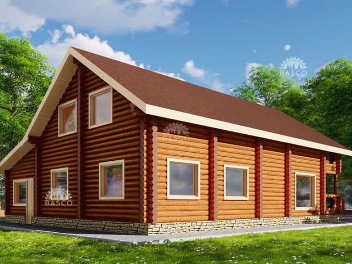 Проект дома с гаражом «Буржуй»