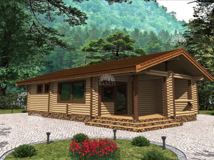 Деревянная бревенчатая баня — «Дороза»