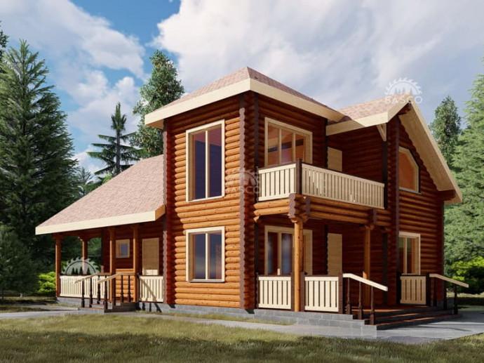 Деревянный коттедж — «Фортуна»