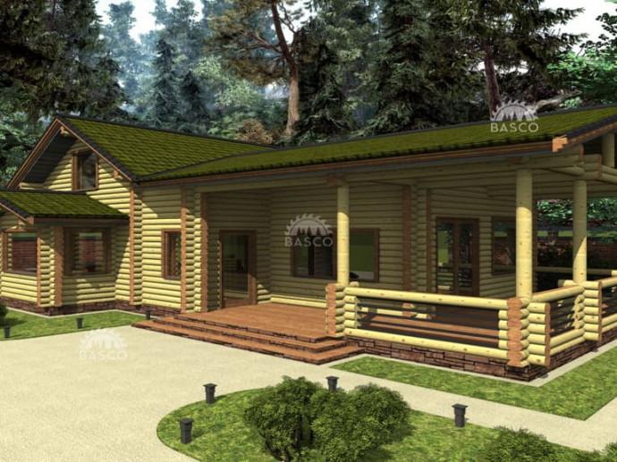Дом из дерева с террасой — «Гунвер»