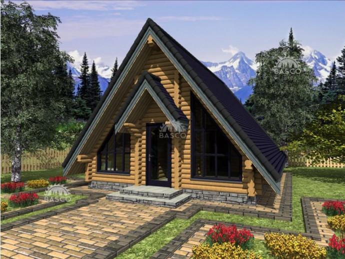 Одноэтажный бревенчатый дом — «Лекид2»